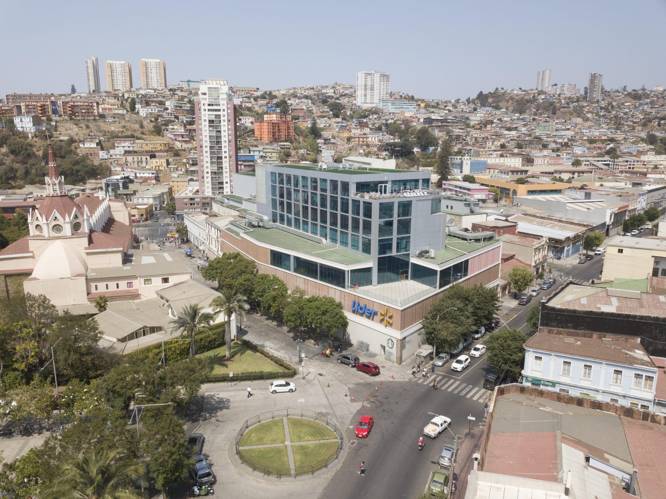 Vista panorámica Mall Paseo Ross Valparaíso